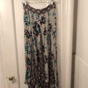 Free People Floral Midi Skirt Size Small